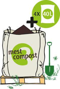 Big Bag biologische mestcompost met losse zakken