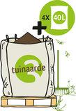 Big Bag biologische tuinaarde met losse zakken