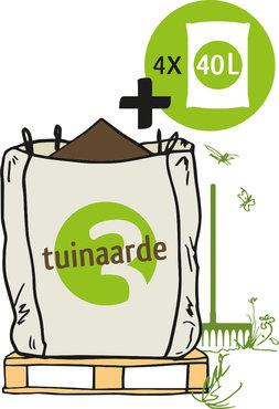 Big Bag Biologische Tuinaarde + losse zakken