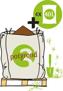 Big Bag biologische potgrond met losse zakken